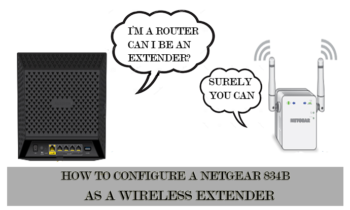 How To Configure A NETGEAR 834B As A Wireless Extender