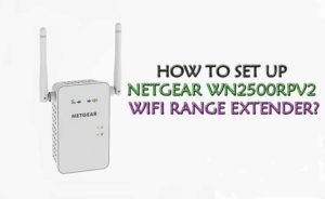 Netgear Wn2500rpv2 Extender Setup